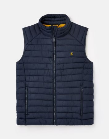 JOULES Go To Lightweight Blue Barrel Gilet